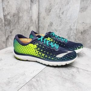 Brooks Pureflow 5 Blue and Green Sneakers